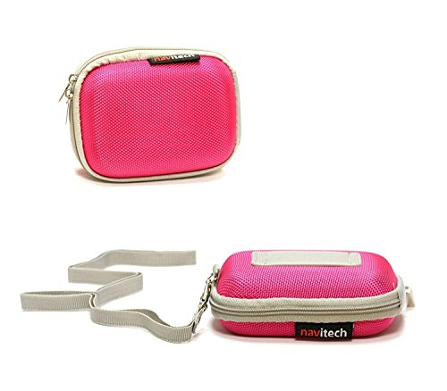 Navitech Pink Hard Protective Earphone/Headphone Case Compatible with The Sennheiser MX 686G Sports