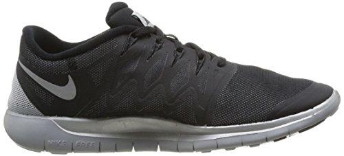 Nike Free 5.0 Flash Mens Scarpa Da Corsa Nero / Riflettere Argento / Grigio Lupo