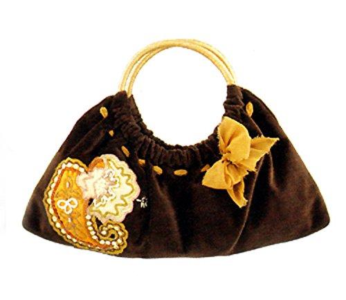 maggi-b-soft-touch-velour-brown-paisley-applique-clutch-bag