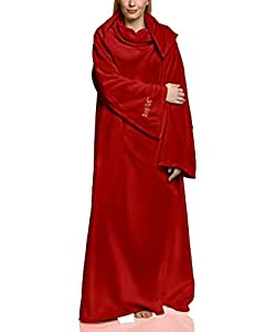 """Snug Rug LITE Polar 260 gs - manta polar con mangas 60"""" x 84"""", color rojo oscuro"""