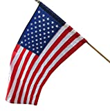3x5 Ft American Flag with SLEEVE POLE POCKET - USA Polyester