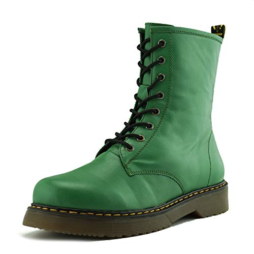Footwear vintage womens Ladies goth boot ankle boot funky lace Kick ankle Verde combat retro SqfqFBd