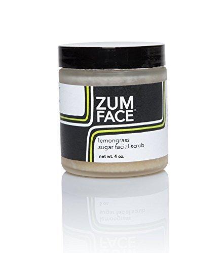 Zum Lemongrass Sugar Facial Scrub (Pack of 2) with Cane Sugar, Jojoba Oil, Coconut Oil, Olive Oil, Caster Oil, Lemongrass and Essential Oils 4 oz