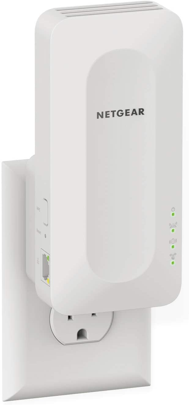 NETGEAR WiFi 6 Mesh Range Extender (EAX15) - Add up to 1,500 sq. ft. and 20+ Devices with AX1800 Dual-Band Wireless Signal Booster & Repeater (up to 1.8Gbps Speed), WPA3 Security, Smart Roaming