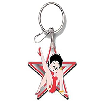 Betty Boop Star Enamel Key Chain