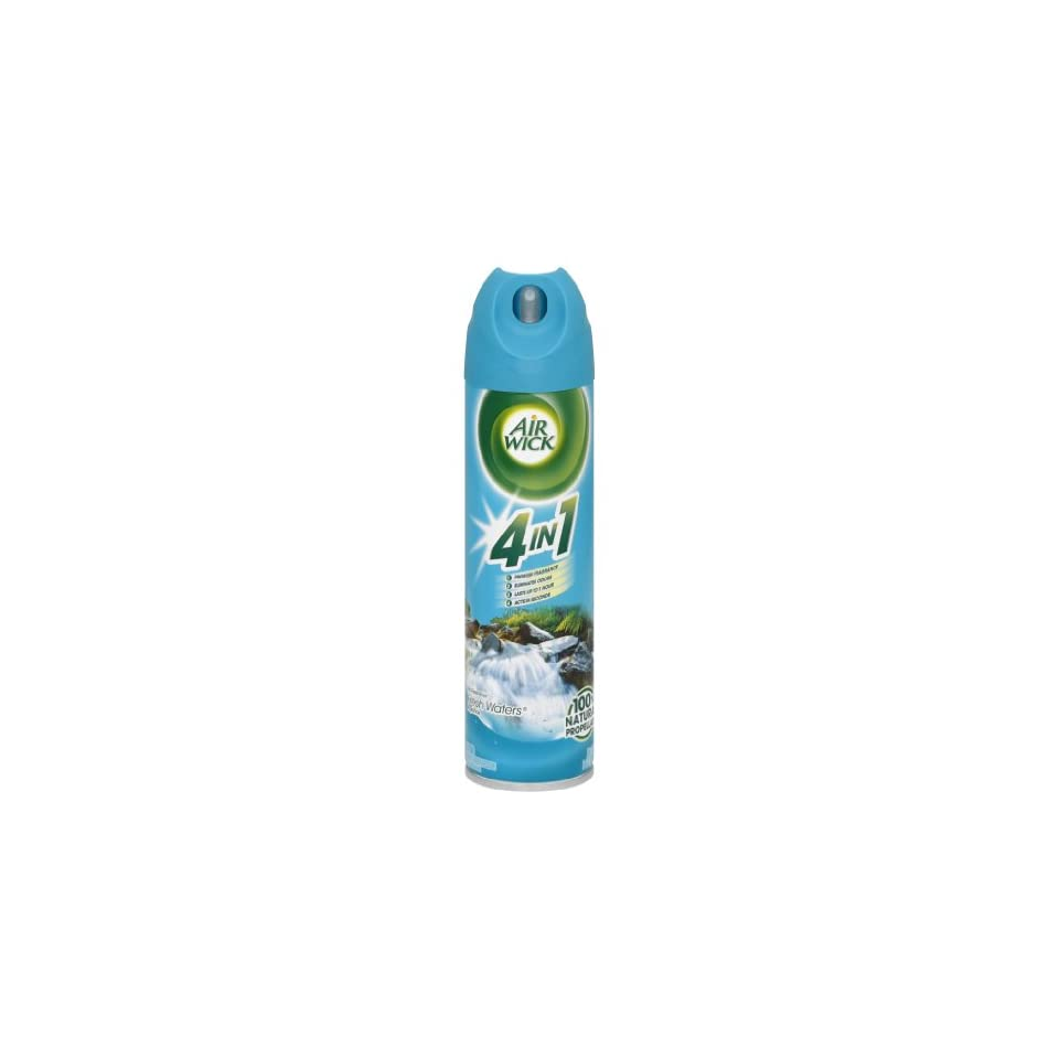Air Wick Aerosol Room Spray Air Freshener, Fresh Waters, 18oz (Pack of 12)