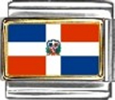 - Dominican Republic Photo Flag Italian Charm Bracelet Jewelry Link