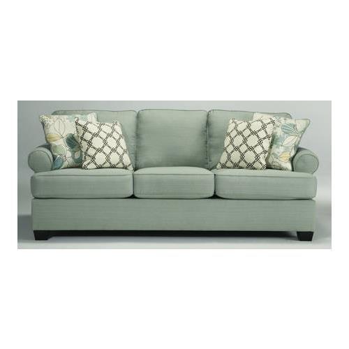 Ashley Furniture Signature Design - Daystar Sofa with 4 Accent Pillows - Contemporary - Seafoam
