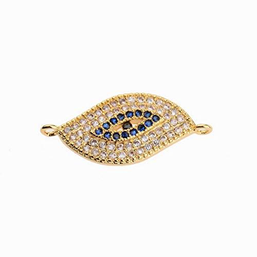Gatton 18K Colorful CZ Zircon Evil Eye Beads Bracelet Necklace Charm Pendant Jewelry   Model BRCLT - 42406  