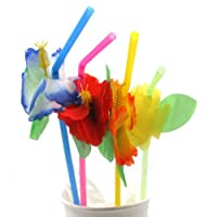 Silk Hibiscus Straws