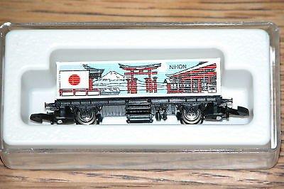 Marklin 2550 Mini Club Z gauge rail car. Car represents Japan (NIHON).