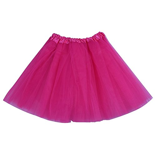 SUNNYTREE Rose Ballet Skirt Womens Tutu Tulle Tutu Dance Party Dress Rose