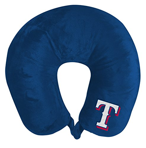 The Northwest Company MLB Texas Rangers Applique Neck Pillow, Travel Pillow, One Size