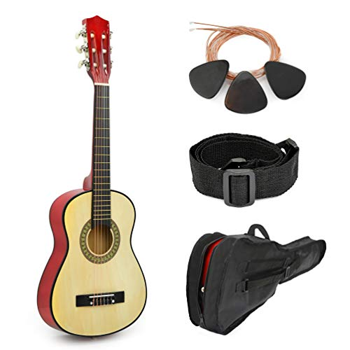 Natural Wood Guitar With Case for Kids/Boys / Beginners (38″)