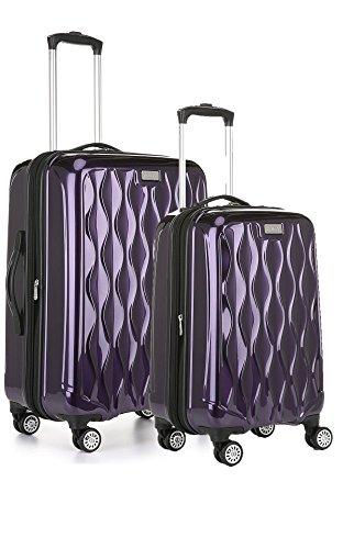 Hardside Upright Hardside Luggage (Antler Liquis 2-Piece Expandable Hardside Upright Luggage Spinner Set: 24