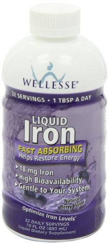 Wellesse Liquid Mineral Supplement Iron Natural Berry