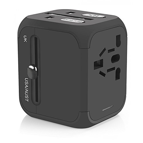 Charging Kit Us Outlet Plug (Travel Adapter, Vogek Universal Travel Power Plug Adapter with 2.4A Dual USB Charging Ports for USA UK EU AUS NZ Cell Phones, Tablets and Laptop)