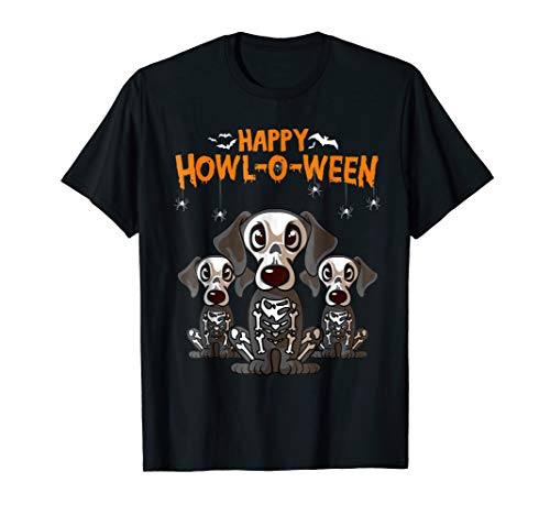 Happy Halloween Dachshund Skeleton Dog Costume T-Shirt ()