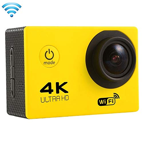 (#33) F60 2.0 inch Screen 4K 170 Degrees Wide Angle WiFi Sport Action Camera Camcorder with Waterproof Housing Case, Support 64GB Micro SD Card(Yellow)