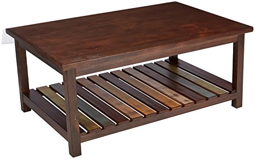 (Ashley Furniture Signature Design - Mestler Coffee Table - Cocktail Height - Rectangular - Rustic Brown)