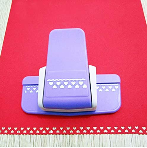 DIY Paper Cutter Border Hole Punch Craft Scrapbooking Kids Handmade Edge Puncher Scrapbook Shaper Large Embossing Device (Heart)