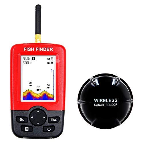 856store Smart Portable Depth Fish Finder with 100M Wireless Sonar Sensor Echo Fishfinder