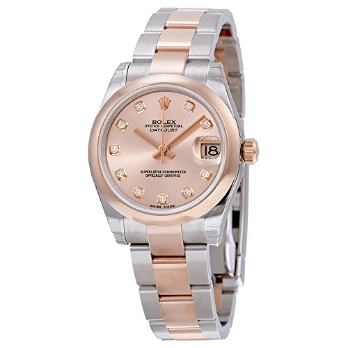 fa257d875b1 Amazon.com: Rolex Datejust Pink Dial Automatic Stainless Steel and 18kt  Rose Gold Ladies Watch 178241PDO: Watches
