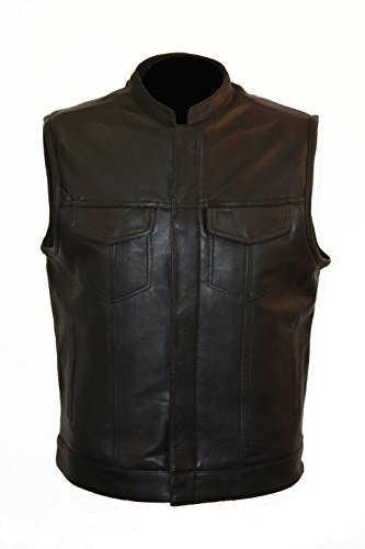 Naked Cowhide Leather Vest - 2