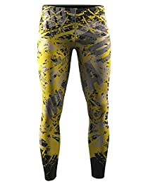 Zipravs Mens Athletic Compression Base Layers Running Exercise Fitness MMA Pants