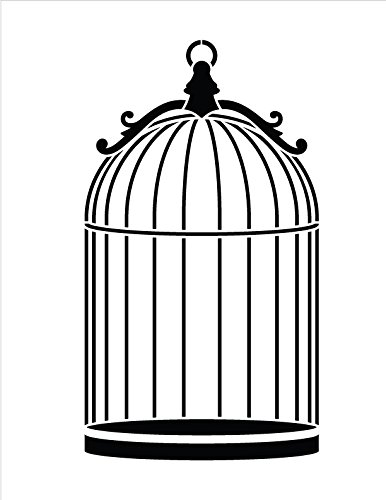 Dome Birdcage Stencil by StudioR12 | Simple Pet Art - Medium 8.5 x 11-inch Reusable Mylar Template | Painting, Chalk, Mixed Media | Use for Crafting, DIY Home Decor - - Dome Mylar