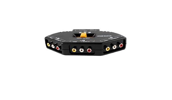 Amazon.com: eDealMax 3-Way Audio Vidéo AV RCA Sélecteur répartiteur 3 w Câble: Electronics
