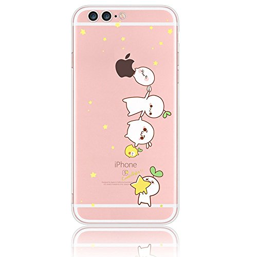 iphone 7 Plus Case,Sunroyal[Dustproof] Thin Cartoon Crystal Transparent Pattern TPU Protective Bumper Back Clear Silicone Skin Cover Shell,Colorful Adorable Cute Animal Series Design