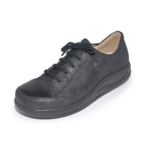 Finn de 2911 à 901670 lacets Chaussures Noir ville Comfort femme pour q4Sq7
