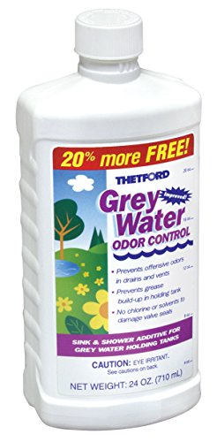 Thetford Grey Water Odor Control - RV Grey Water Tank Treatment, 24 oz 15842 by Thetford