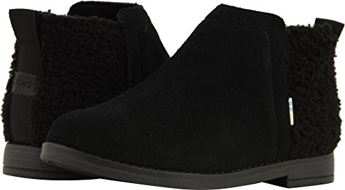 TOMS Kids Girl's Deia (Little Kid/Big Kid) Black Suede/Plush Faux Shearling 1 M US Little Kid for $<!--$34.50-->