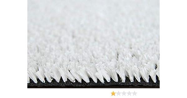 Lucatex otras medidas disponibles Rollo c/ésped artificial Blanco Ibiza 8mm en rollos de 1 x 30 metros de largo alta densidad