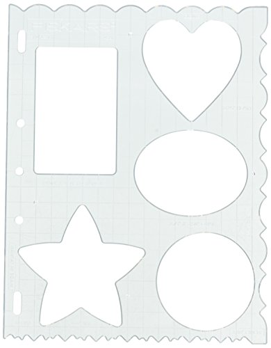 Fiskars 8.5x11 Inch Sheet Mixed Shapes and Borders Shape Template (48617097F) (Plastic Fiskars Templates)