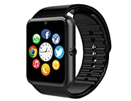 MSRM Smart Watch Phone 1.54 Inch Phone Syc Support Android 4.3 Above and iPhone5s/6/6s/7/7s (Partial Functions for iPhone) Black