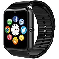 MSRM - Reloj inteligente de banda reemplazable con Bluetooth, sincronización de llamadas y manos libres, compatible con Android 4.2 o superior y iPhone 5S, 6, 6S, 7 y 7 S (funciones parciales para iPhone) (SL)