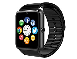 Debbiecty Msrm Smart Watch Phone 1.54 Inch Phone Syc Support Android 4.2 Or Abouve & Iphone5s66s77s (Black)
