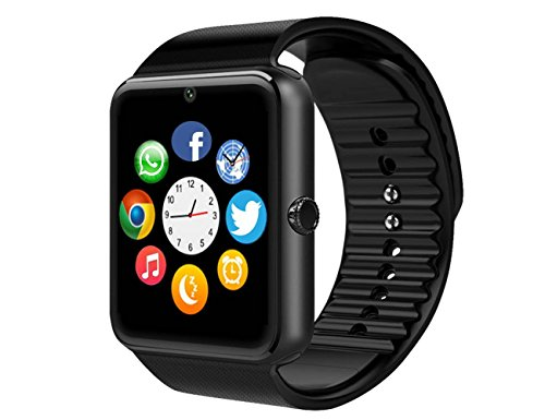 MSRM Smart Watch Phone 1.54 Inch Phone Syc Support Android 4.2 or abouve and Iphone5s/6/6s/7/7s (Black)