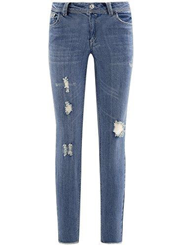 Ultra Ed Strappi Blu Orlo Grezzo Con 7500w Donna Jeans Oodji Xx7fSX