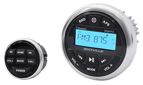 Rockville Marine-Grade Bluetooth Gauge Receiver Radio w/USB+