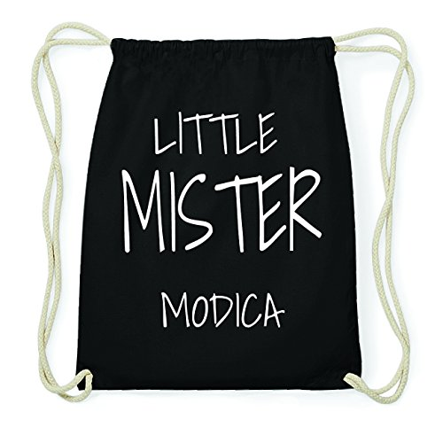 JOllify MODICA Hipster Turnbeutel Tasche Rucksack aus Baumwolle - Farbe: schwarz Design: Little Mister h5uCkRL