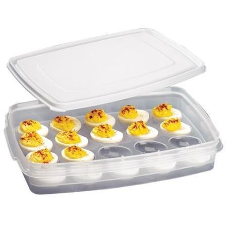 covered deviled egg carrier - 8