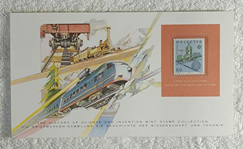 - Rack and Pinion Railway System - Postage Stamp (Switzerland, 1983) & Art Panel - The History of Science & Invention - Franklin Mint (Limited Edition, 1986) - Railroad, Train, Mountain Railway