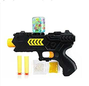 Amazon.com: Paintball soft gun water orbeez gun EVA bullet + water bomb  dual-purpose pistol bursts of crystal toy shooting nerf: Toys & Games