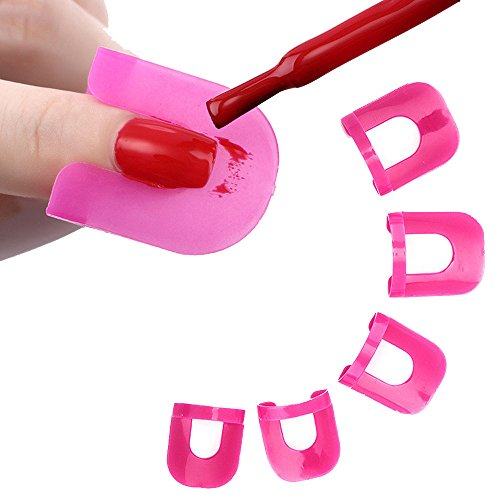 - 26pcs Nail Polish Glue Model Spill Proof Manicure Protector Tools+ 1 PC Sticker