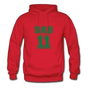 Ebolam Dad 2011 Red Painting X-large Sweatshirts Creative Women