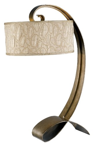 - Kenroy Home 20090SMB Remy Table Lamp, Smoked Bronze